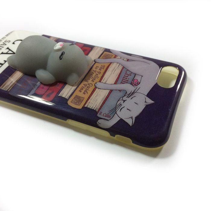 قاب فانتزی اپل iPhone 7/8 با طرح گربه شکمو