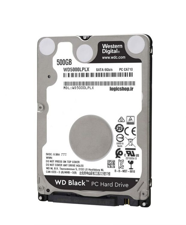 هارد اینترنال لپ تاپ وسترن دیجیتال مدل WD5000LPLX ظرفیت ۵۰۰ گیگابایت