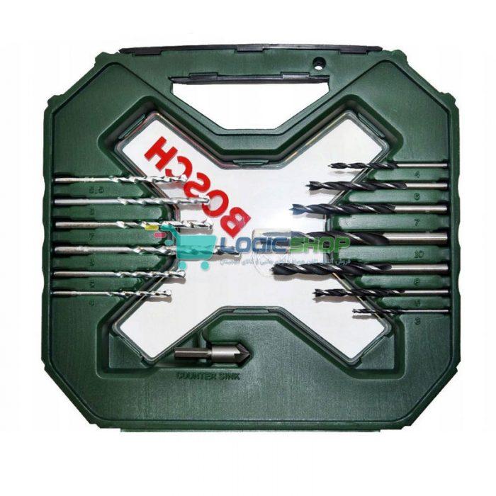 مجموعه 60 عددی سری پیچ گوشتی و مته و بکس بوش مدل 2607010611