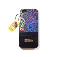کاور Sibling طرح چرم رنگ مشکی طرح دار مناسب برای گوشی Iphone 5s / se
