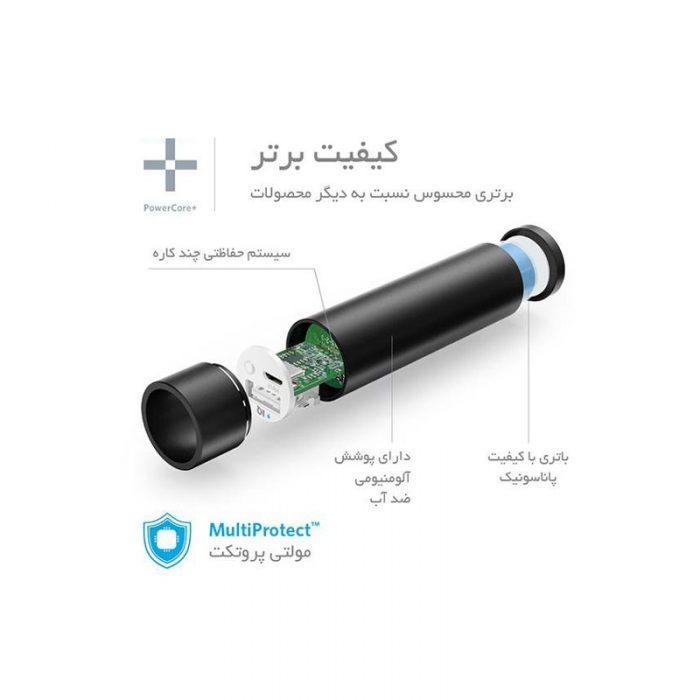 شارژر همراه انکر مدل A1104 PowerCore Plus Mini با ظرفیت 3350 میلی آمپر ساعت