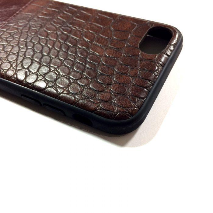 کاور گوشی طرح چرم قهوه ای رنگ مناسب Iphone 7/8 برند Hojar