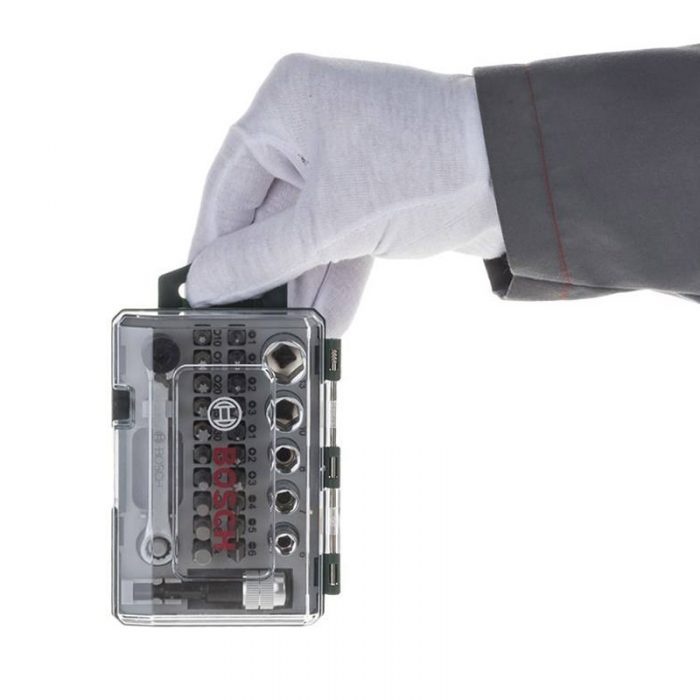 مجموعه 27 عددی سری بکس و پیچ گوشتی Bosch مدل 2607017160