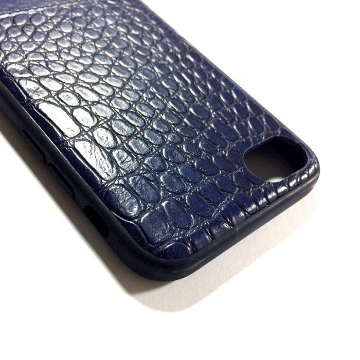کاور گوشی طرح چرم رنگ سرمه ای مناسب Iphone 7/8 برند Hojar