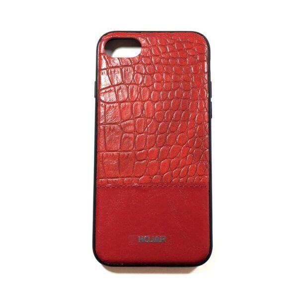 کاور گوشی طرح چرم رنگ قرمز مناسب Iphone 7/8 برند Hojar