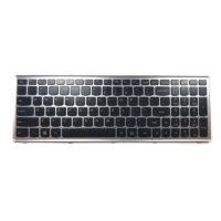 کیبورد لپ تاپ لنوو IdeaPad Z500 با فریم نقره ای