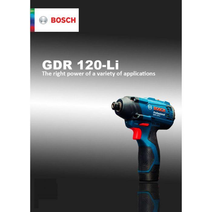 پیچ گوشتی شارژی بوش مدل GDR 120-LI