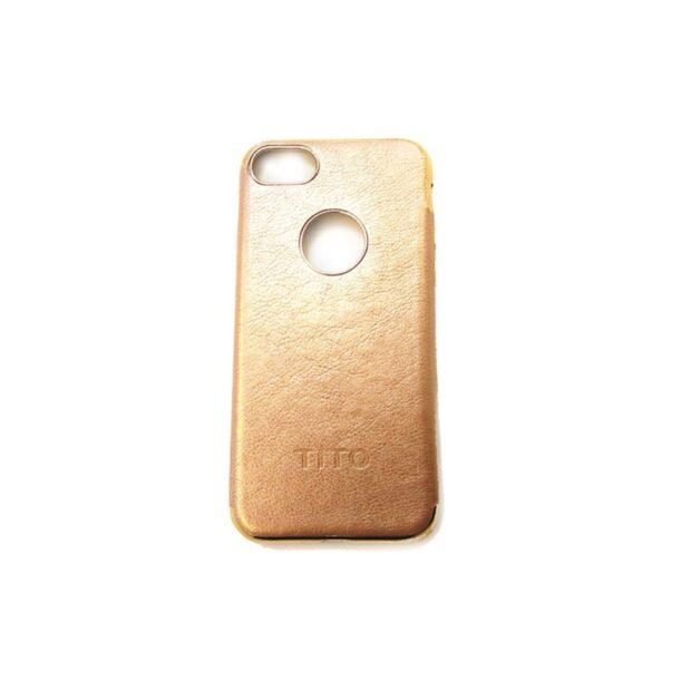 کاور طرح چرم برند Tito رنگ کرم برای گوشی iPhone مدل 7/8