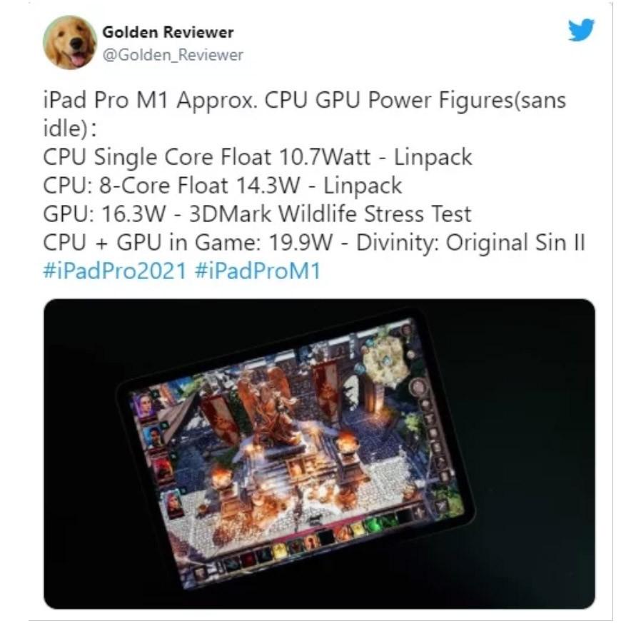 مصرف انرژی iPad Pro با چیپ M1